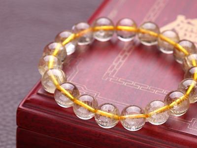 天然黄水晶手链价格是多少