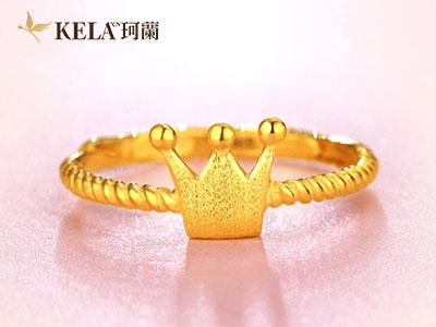 黄金戒指图片女款解析