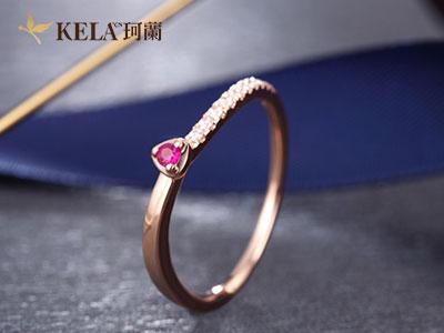 18k彩金戒指多少钱