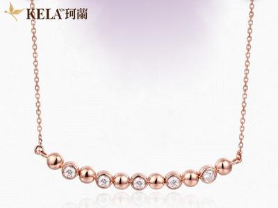玫瑰金项链给你颈间带来不一样的色彩