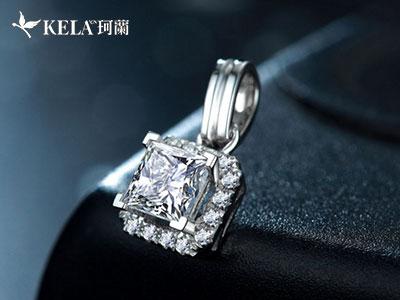 方形钻石吊坠感受高贵优雅风