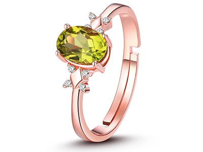 橄榄石戒指的定价标准