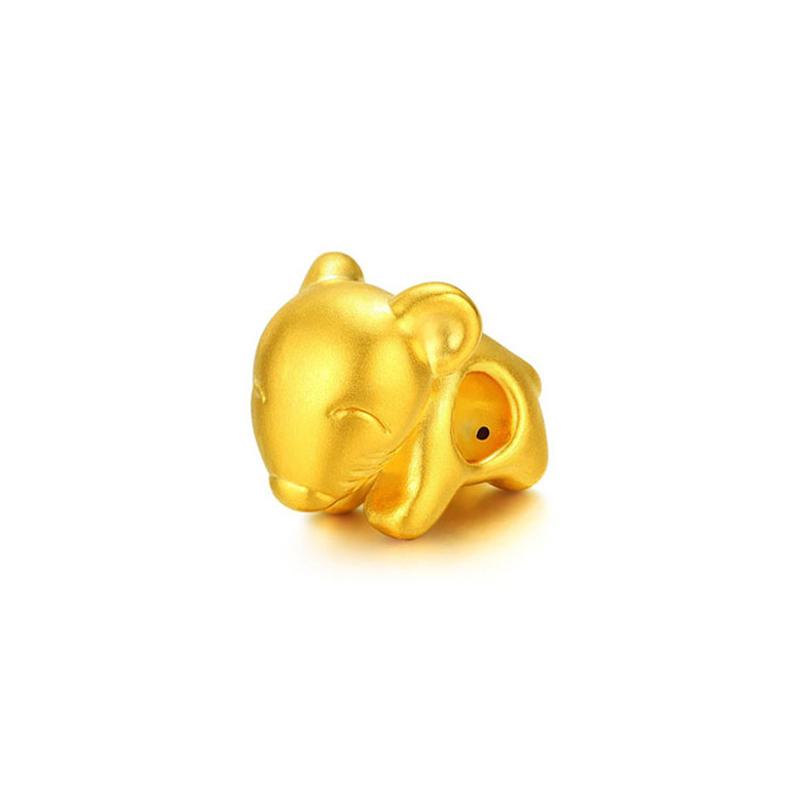 十二生肖 3D硬金米奇鼠转运珠H
