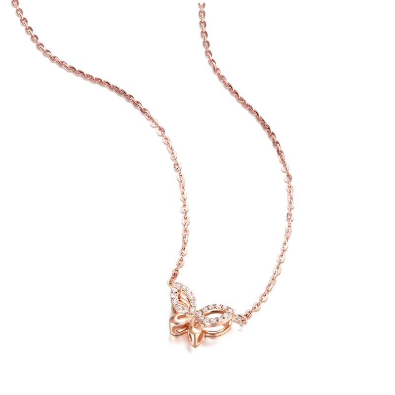 nature 玫瑰金蝴蝶套链 时尚饰品 钻饰