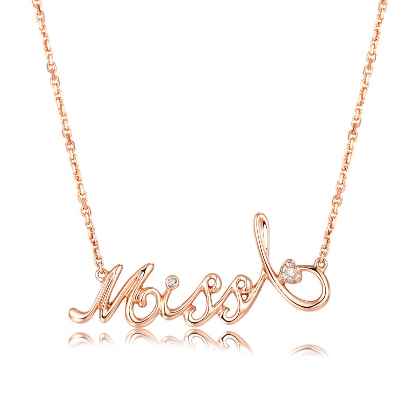 Miss A系列 玫瑰金钻石套链