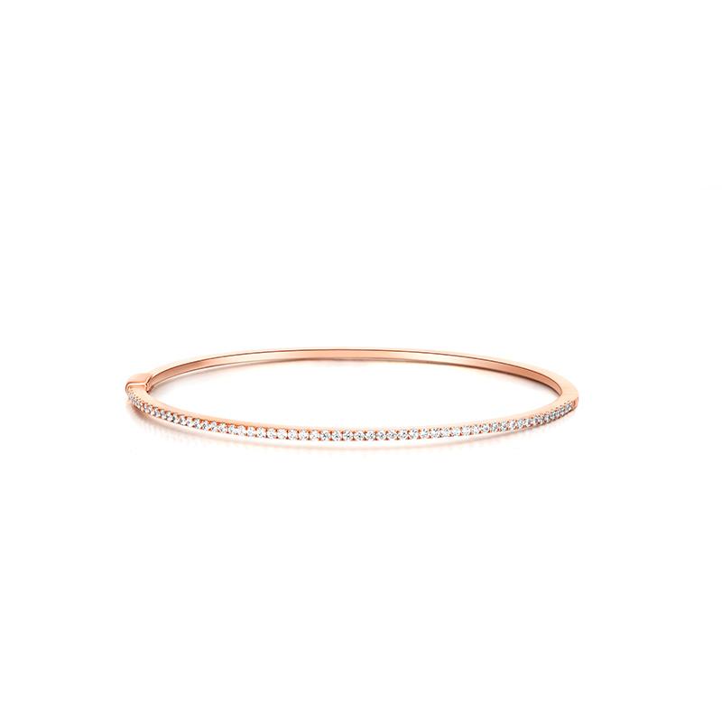 唯一  玫瑰金钻石手镯 时尚饰品 钻饰