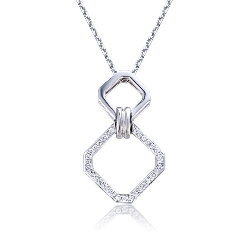 慕雪 18K金钻石吊坠