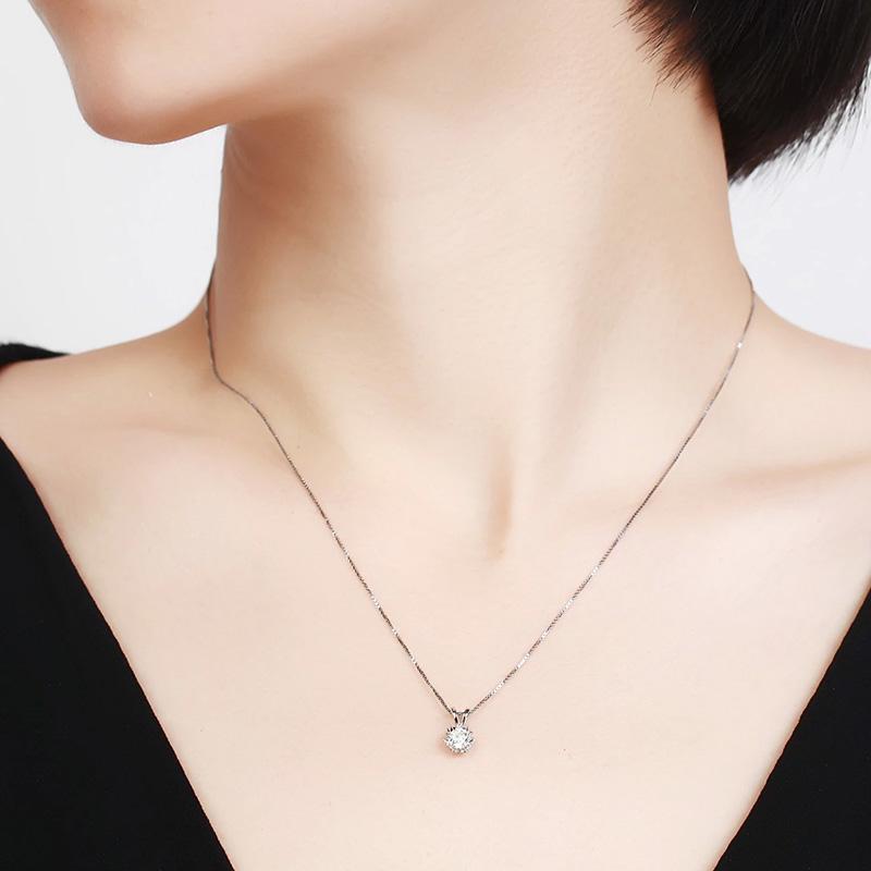星光 白18K金钻石吊坠 时尚饰品 ...