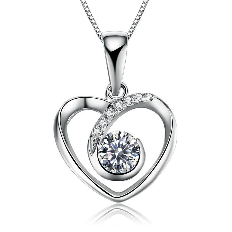 心相悦豪华版 白18K金钻石吊坠 时尚饰品 钻饰