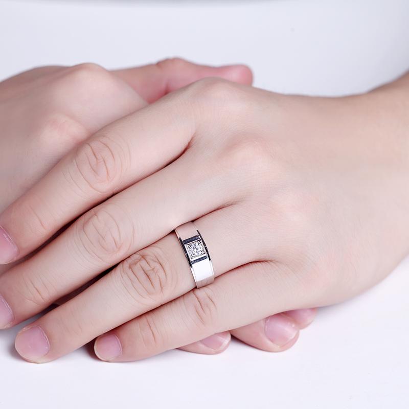 炫目 18K金钻石 男戒【荣君系列】