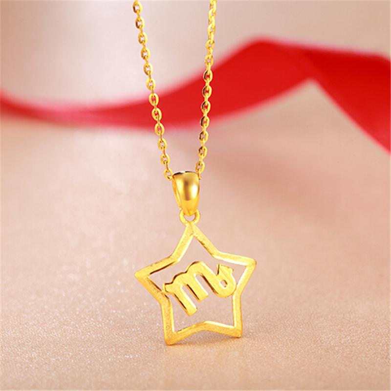 天蝎座 十二星座黄金吊坠H