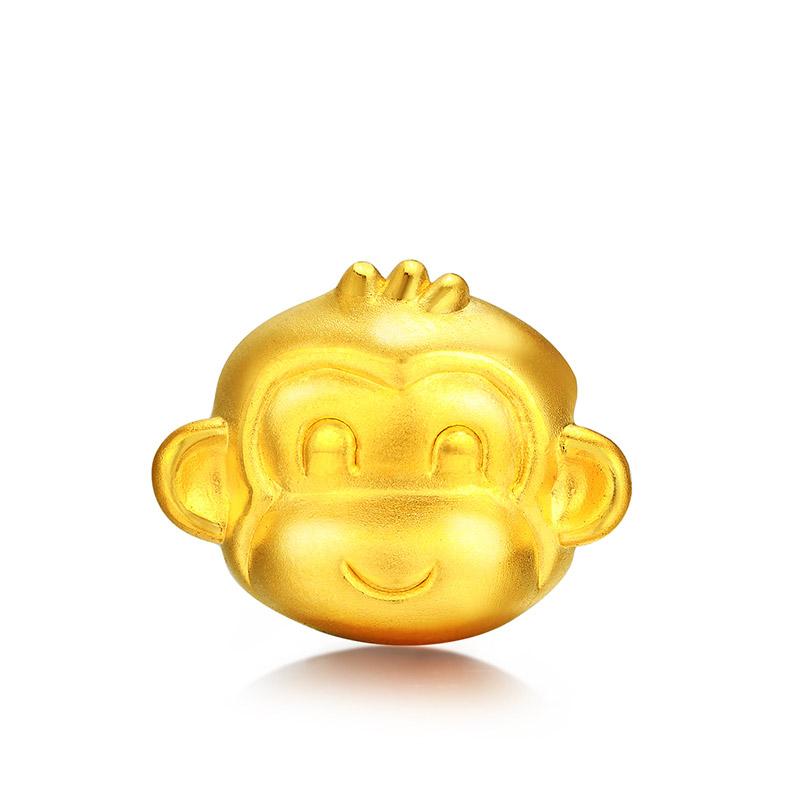 小萌猴系列 3D硬金小三毛转运珠H
