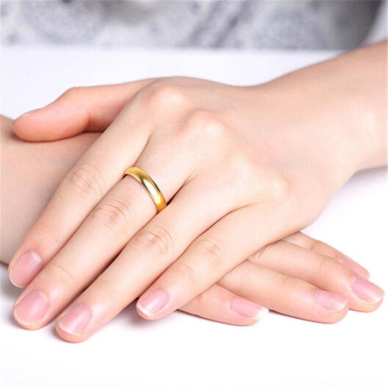 光面福纹 黄金戒指H