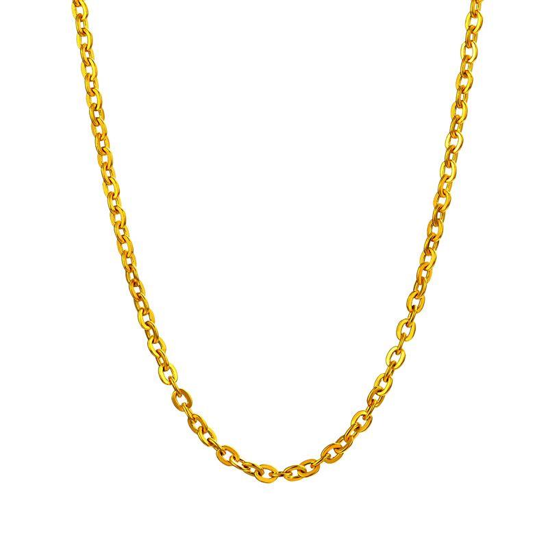 经典O字链 黄金项链H