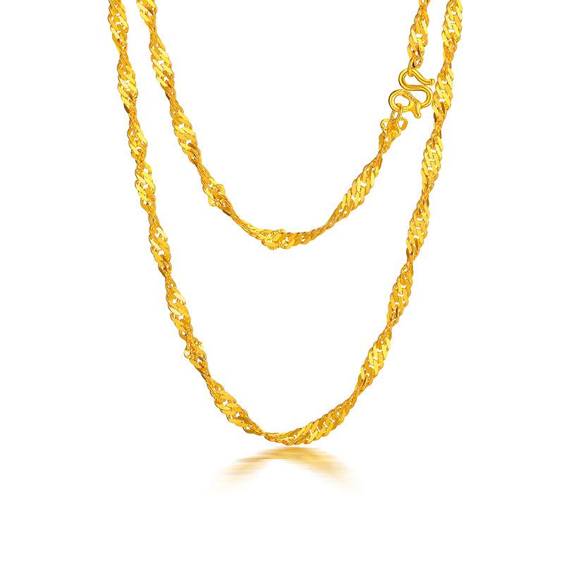水波纹 黄金18寸女士项链H