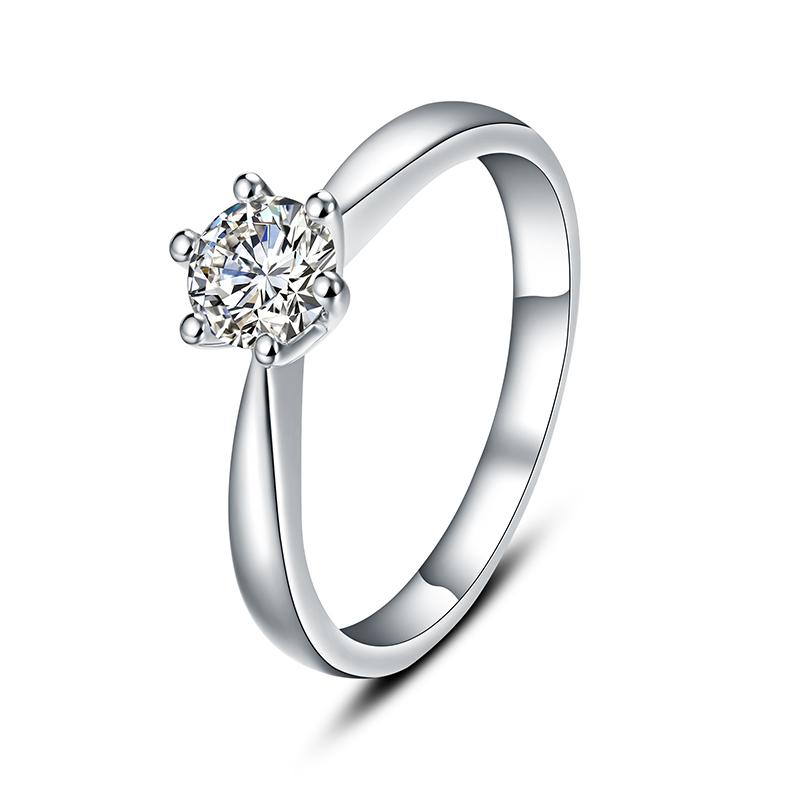 CONNIE 白18K金钻石女戒 结婚钻戒