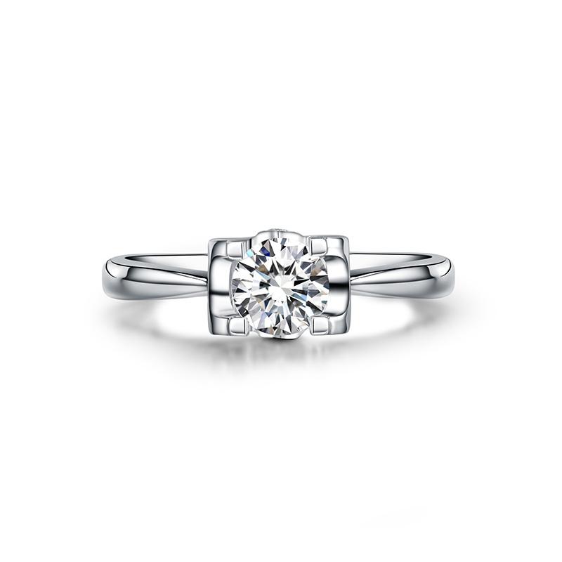 爱·承诺 18K金钻石女戒 结婚钻戒