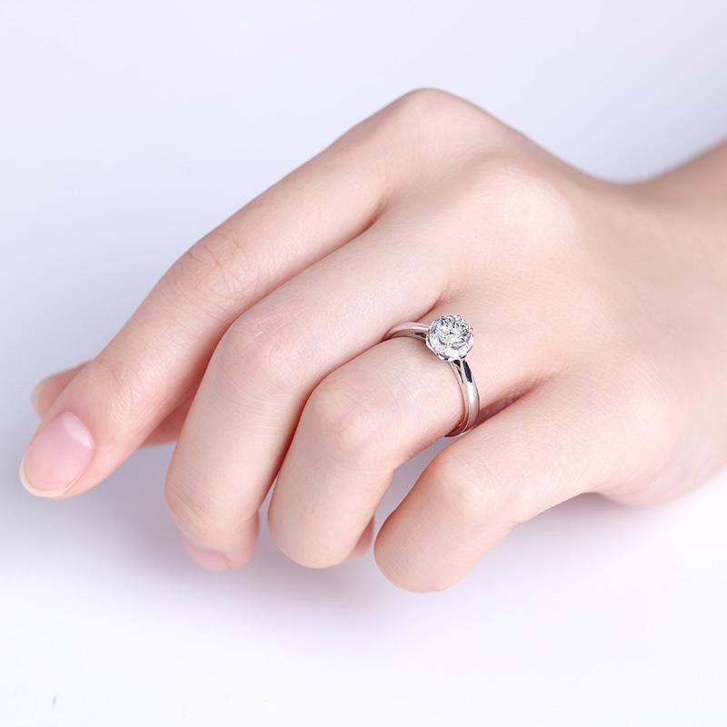 爱丽斯 18K金/PT950钻石女戒...