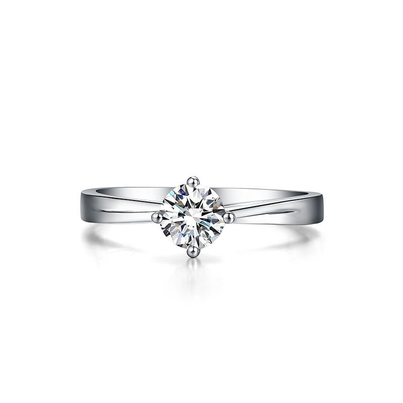 爱·玫瑰 白18K金钻石女戒 结婚钻戒