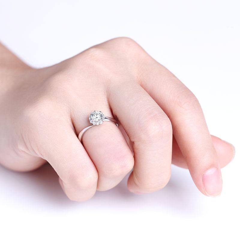 爱·相守 18K金钻石女戒 共约53...