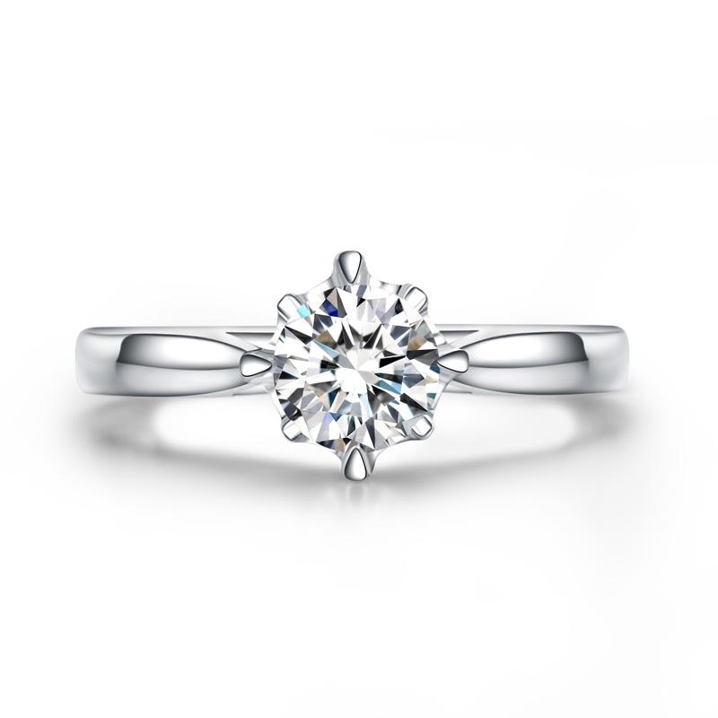 爱之密语 白18K金钻石女戒 结婚钻戒