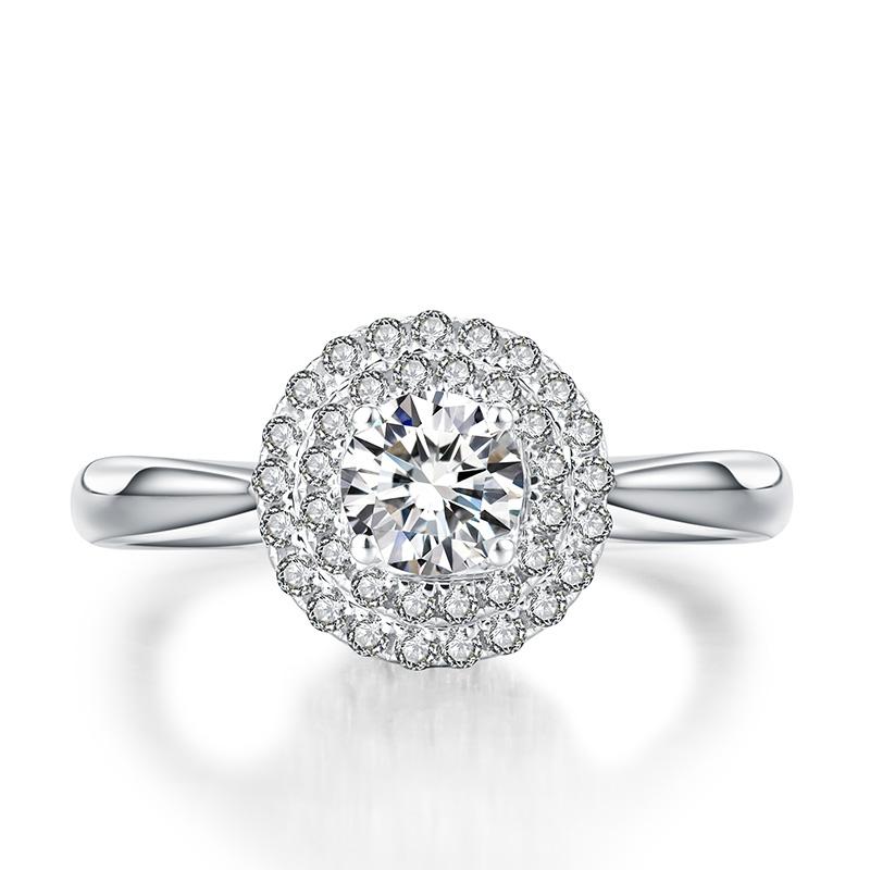 巴比伦之恋 18K金钻石女戒 结婚钻戒