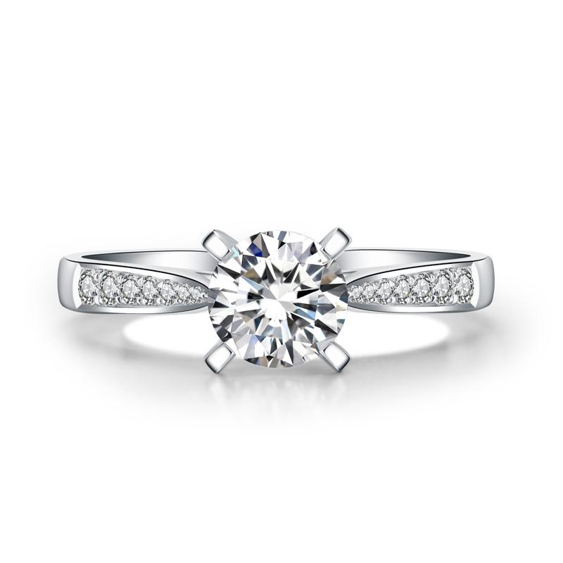 灿然 18K金钻石女戒 结婚钻戒