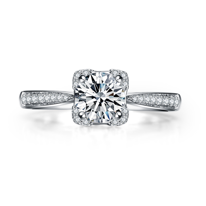 端然 18K金钻石女戒 结婚钻戒