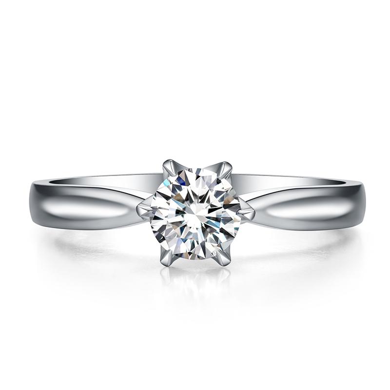 风中的女王 18K金钻石女戒 结婚钻戒