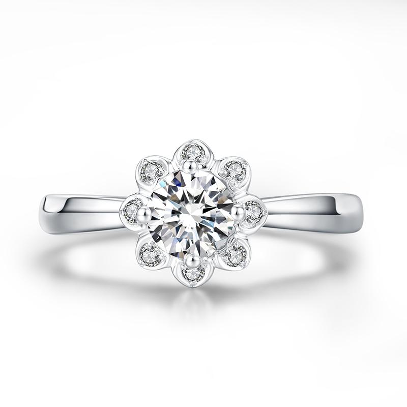 Fiona 18K金钻石女戒 结婚钻戒