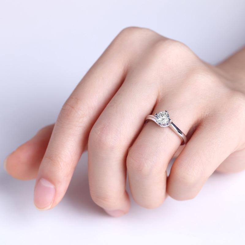 光·晶莹 白18K金/PT950钻石...