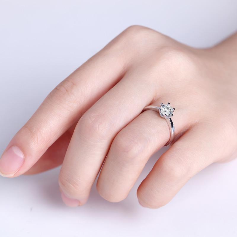 简单爱 白18K金/PT950钻石女...
