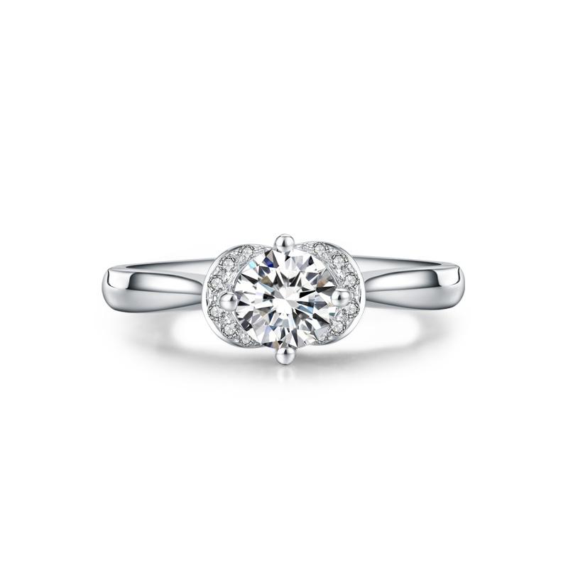 佳人 18K金钻石女戒 结婚钻戒