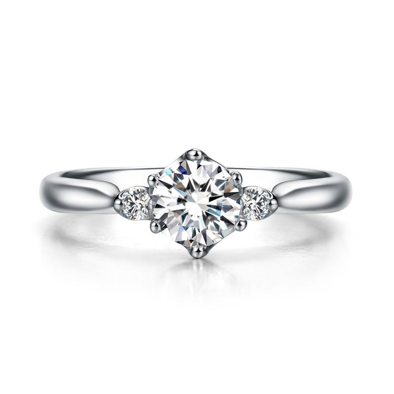 金盏·百叶 18K金钻石女戒 结婚钻戒