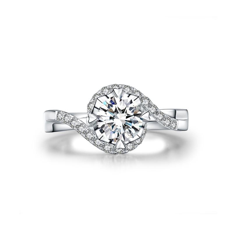 你是我的眼 18K金钻石女戒 结婚钻戒