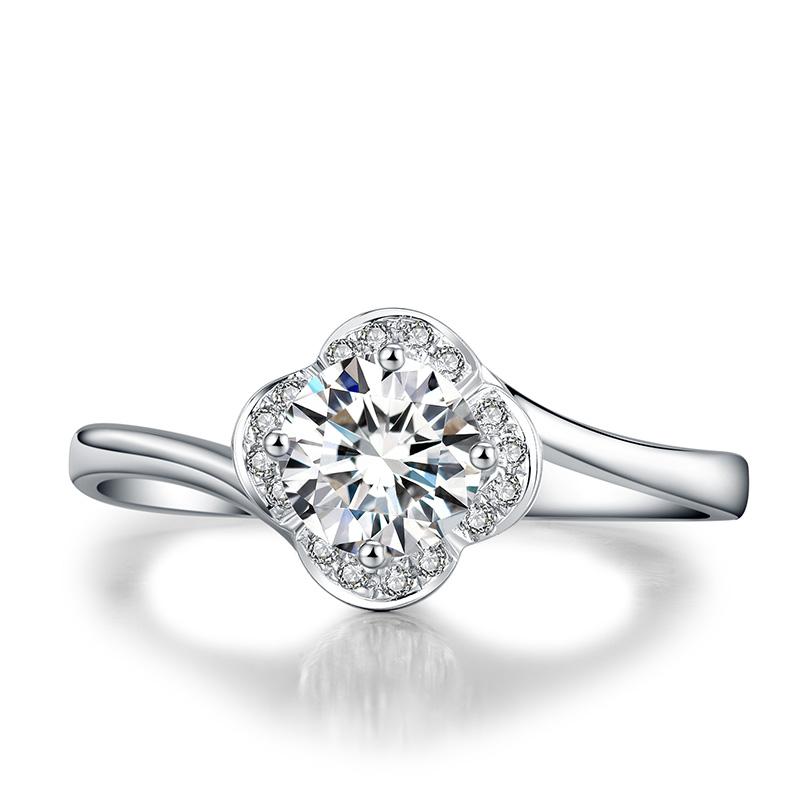 女人花 18K金钻石女戒 结婚钻戒