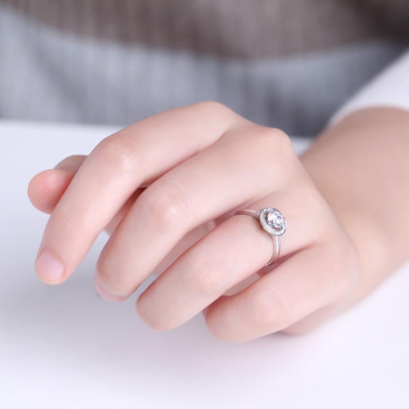倾心 18K金钻石女戒 结婚钻戒