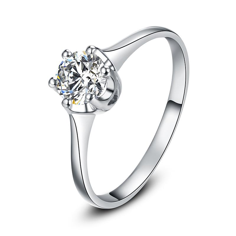 圣洁之恋 18K金钻石女戒 结婚钻戒
