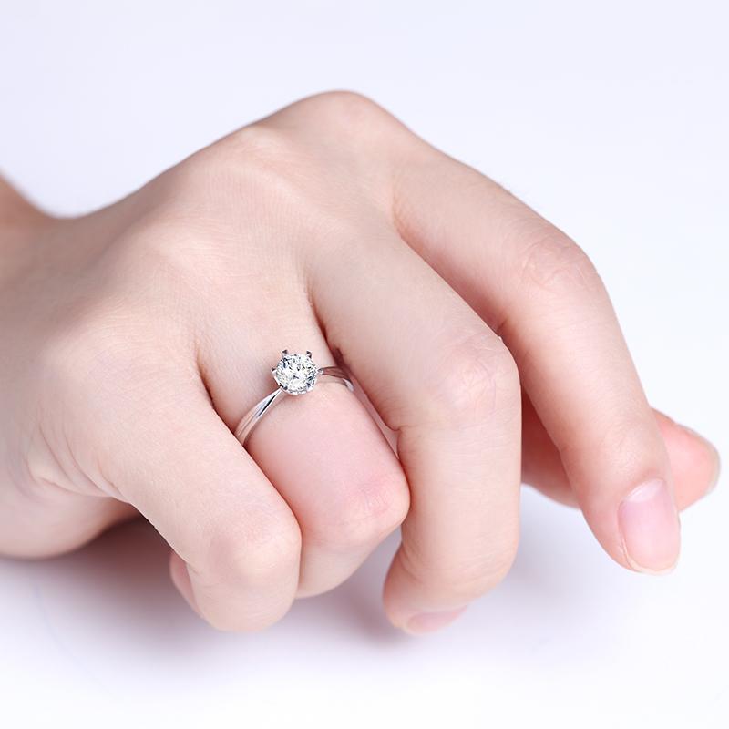 深情相拥 白18K金/PT950钻石...