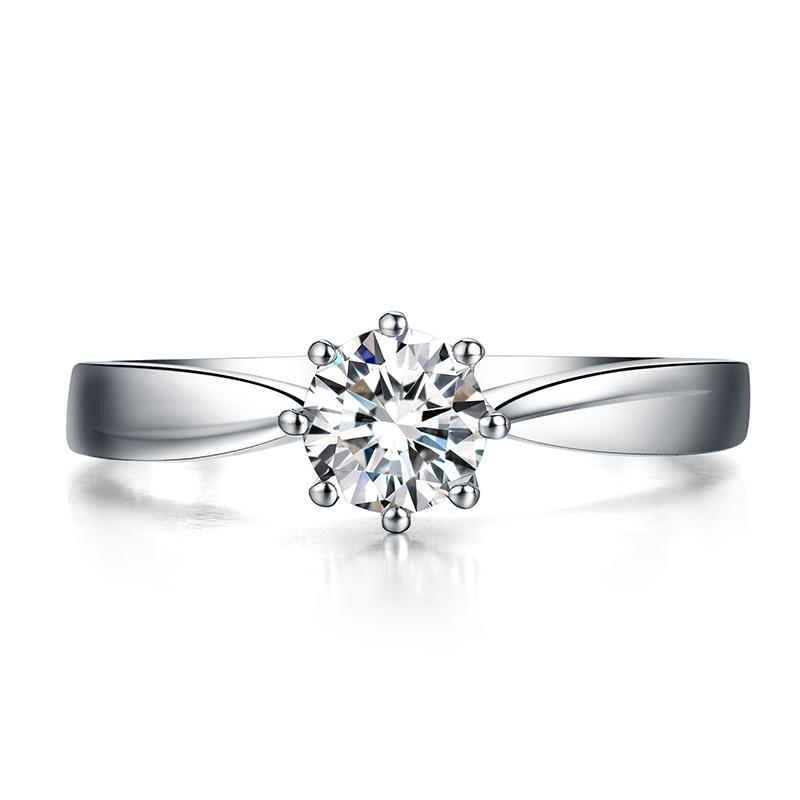 神圣之光 白18K金钻石女戒 结婚钻戒