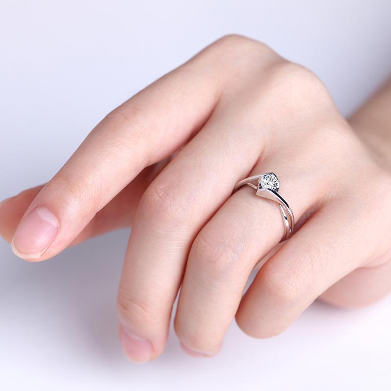 天使之吻 白18K金/PT950钻石...