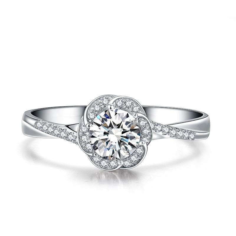 围绕幸福 18K金钻石女戒 结婚钻戒