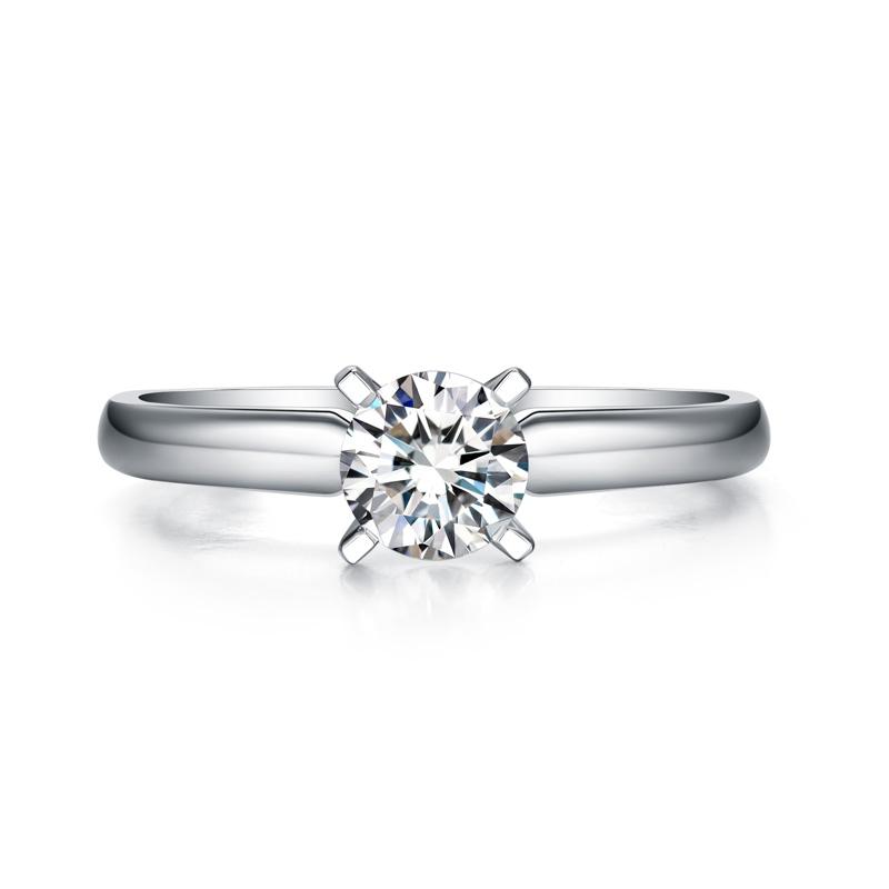 星辰 白18K金钻石女戒 结婚钻戒