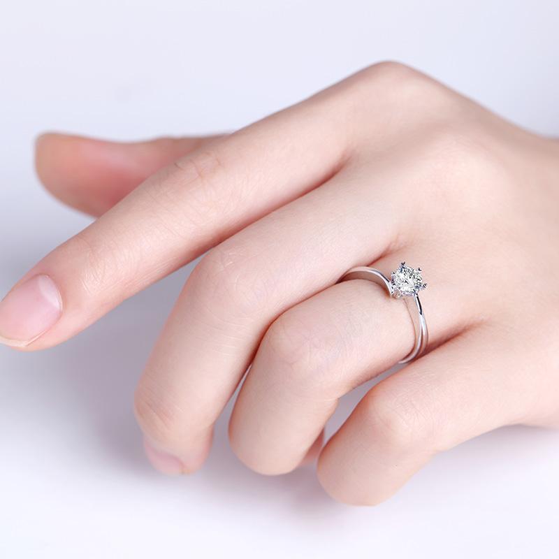 心弦 PT950钻石女戒 结婚钻戒
