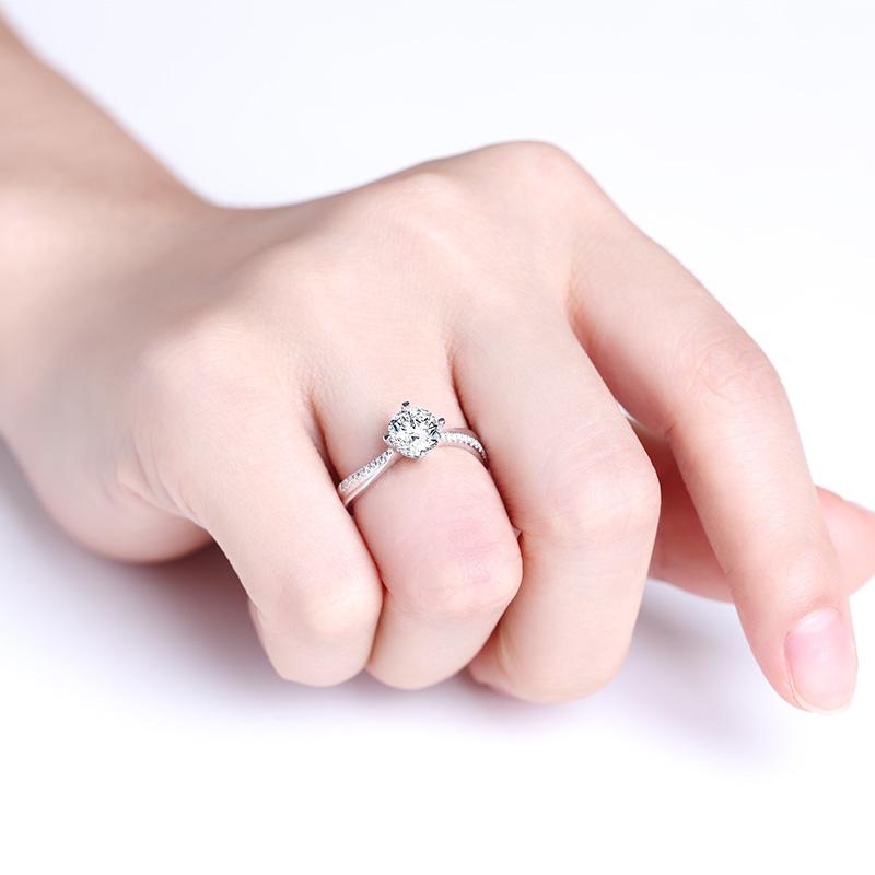 心之所依 18K金钻石女戒 结婚钻戒