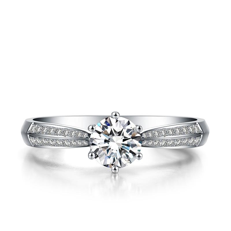 银河之星 18K金钻石女戒 结婚钻戒