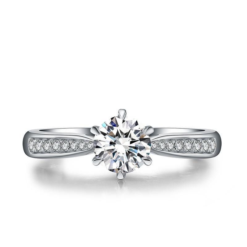 旖旎 18K金钻石女戒 结婚钻戒