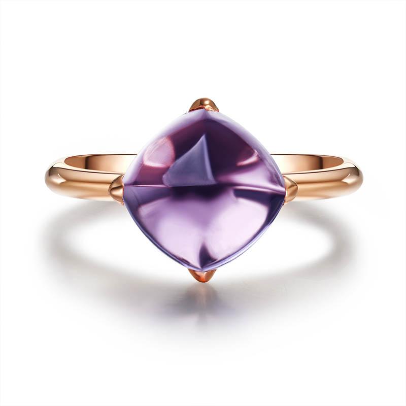 浪漫情缘 S925紫水晶戒指 水瓶座守护石