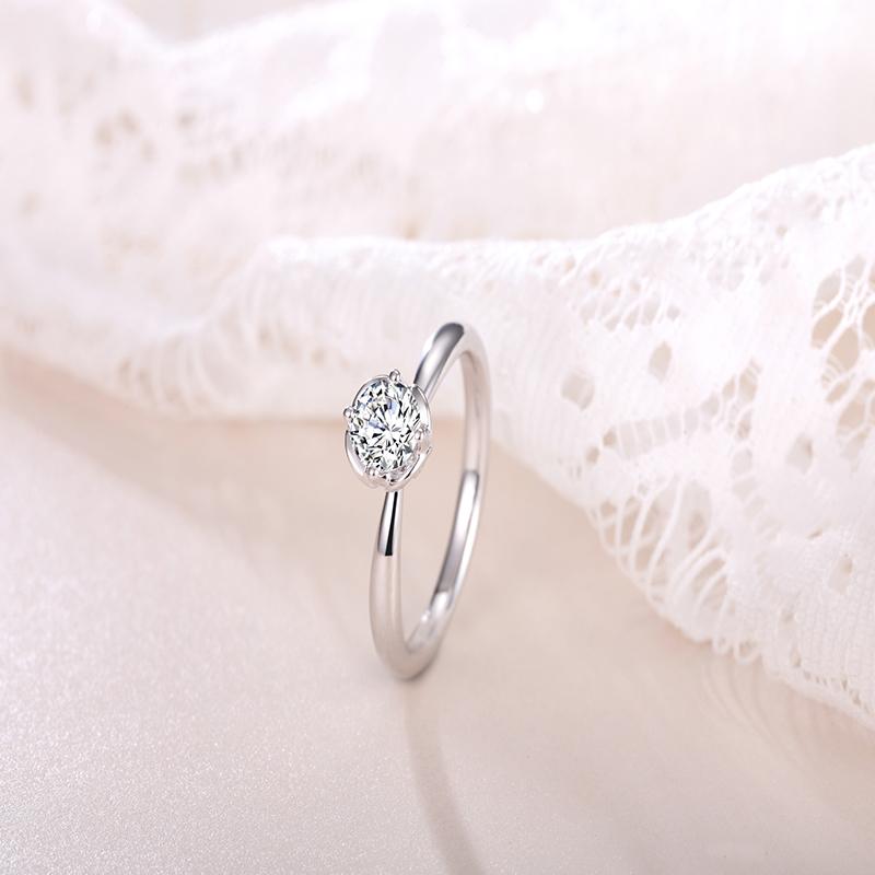 天鹅湖系列-心心相印 白18K金钻石...