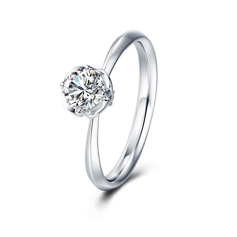 天鹅湖系列-美丽印迹 18K钻石女戒